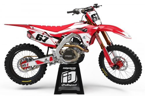 Honda CRF Design 1 1 Falcon - Indigo Decals, Bike Graphics, Custom Motocross Bike Designs