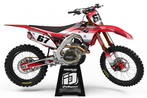 Honda CRF - Design - D2 1 - Custom Bike Decals, Graphics, UK, Indigo Decals