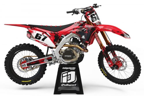 Honda CRF - Design - D3 1 - Custom Bike Decals, Graphics, UK, Indigo Decals