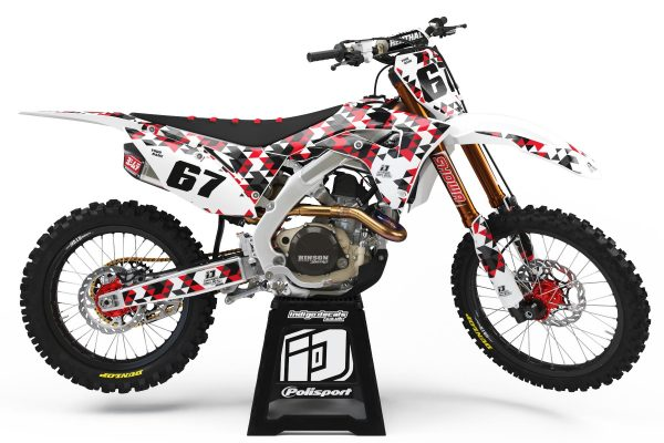 Honda CRF - Design - D4 1 - Custom Bike Decals, Graphics, UK, Indigo Decals