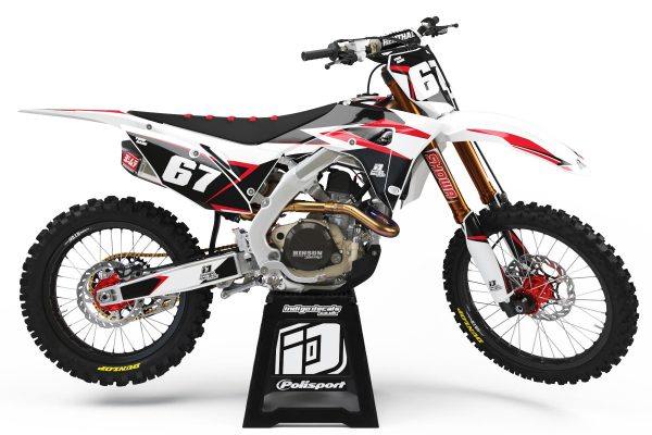 Honda CRF - D6 1 - Custom Bike Decals, Graphics, UK, Indigo Decals