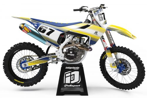 Husqvarna - Design - D2 1 - Custom Bike Decals, Graphics, UK, Indigo Decals