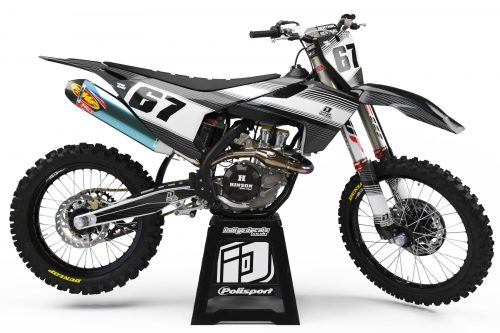 Husqvarna - Design - D2 3 - Custom Bike Decals, Graphics, UK, Indigo Decals