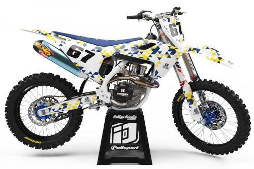 Husqvarna - Design - D4 1 - Custom Bike Decals, Graphics, UK, Indigo Decals