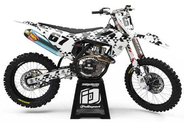 Husqvarna - Design - D4 3 - Custom Bike Decals, Graphics, UK, Indigo Decals
