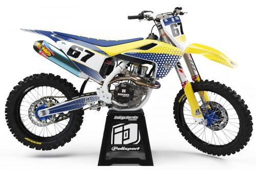Husqvarna - D5 1 - Custom Bike Decals, Graphics, UK, Indigo Decals