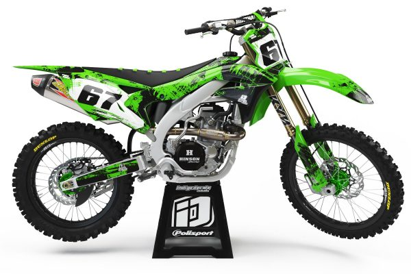 Kawasaki KXF - Design - D3 1 - Custom Bike Decals, Graphics, UK, Indigo Decals