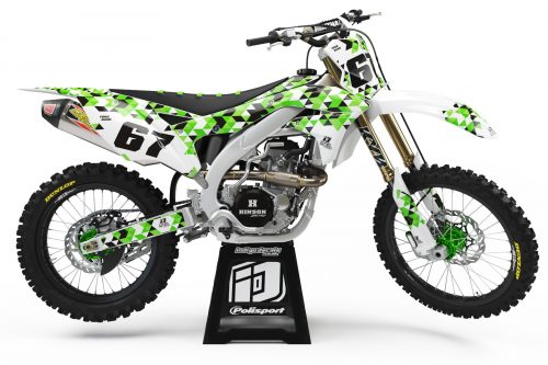 Kawasaki KXF - Design - D4 1 - Custom Bike Decals, Graphics, UK, Indigo Decals