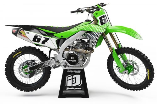 Kawasaki KXF - D5 1 - Custom Bike Decals, Graphics, UK, Indigo Decals