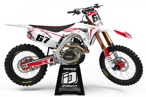 Honda CRF - D10 - 1 - Custom Bike Decals, Graphics, UK, Indigo Decals