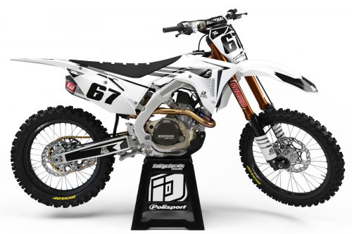 Honda CRF - D10 - 3 - Custom Bike Decals, Graphics, UK, Indigo Decals