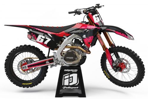 Honda CRF - D9 - 2 - Custom Bike Decals, Graphics, UK, Indigo Decals
