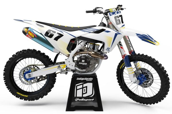 Husqvarna - D10 - 1 - Custom Bike Decals, Graphics, UK, Indigo Decals