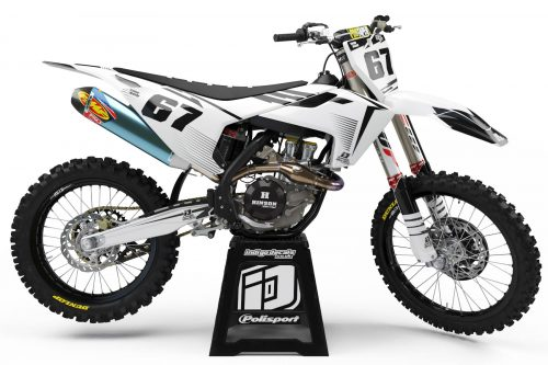 Husqvarna - D10 - 3 - Custom Bike Decals, Graphics, UK, Indigo Decals