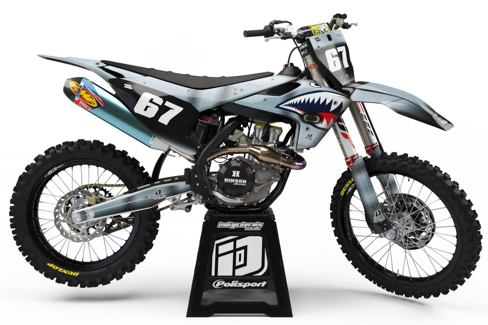 Husqvarna- D7 - Custom Bike Decals, Graphics, UK, Indigo Decals