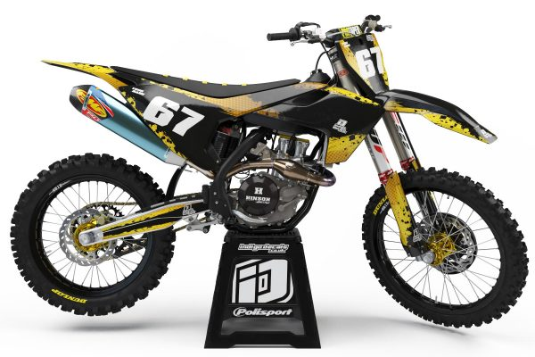 Husqvarna - D9 - 1 - Custom Bike Decals, Graphics, UK, Indigo Decals