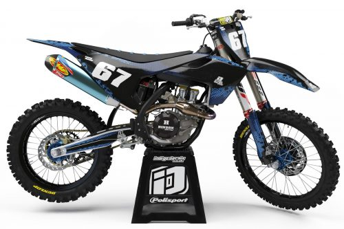 Husqvarna - D9 - 2 - Custom Bike Decals, Graphics, UK, Indigo Decals