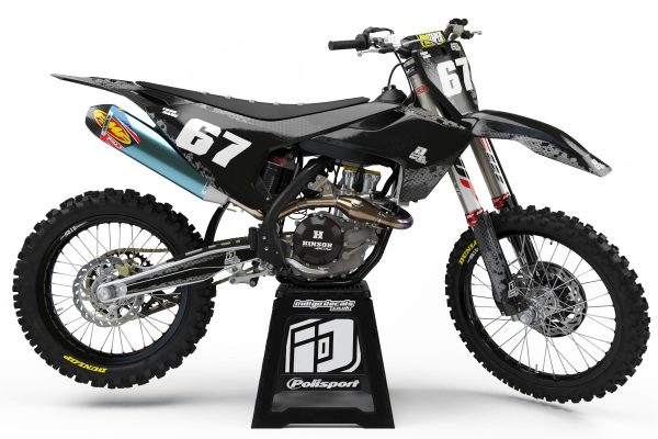 Husqvarna - D9 - 3 - Custom Bike Decals, Graphics, UK, Indigo Decals