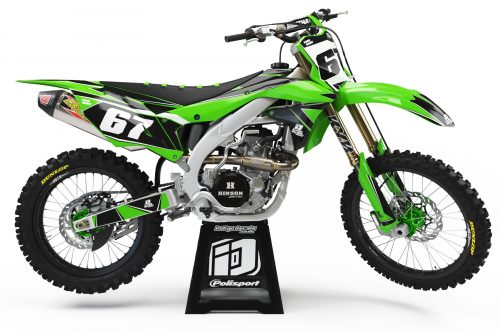 Kawasaki KXF - Design 1 1 - Custom Bike Decals, Graphics, UK, Indigo Decals
