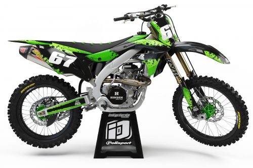 Kawasaki KXF D9 - 2 - Custom Bike Decals, Graphics, UK, Indigo Decals