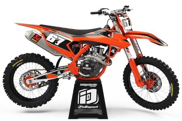 KTM - D1 - 1 - Custom Bike Decals, Graphics, UK, Indigo Decals