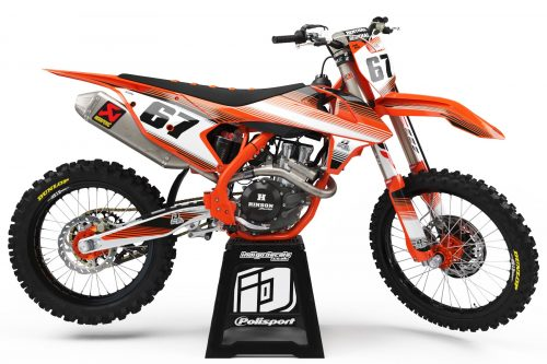 KTM - D2 - 1 - Custom Bike Decals, Graphics, UK, Indigo Decals