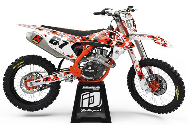 KTM - D4 - 1 - Custom Bike Decals, Graphics, UK, Indigo Decals