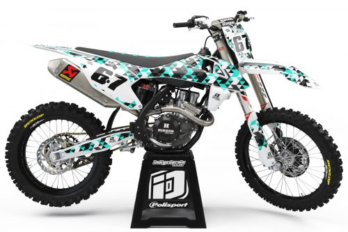 KTM - D4 - 2 - Custom Bike Decals, Graphics, UK, Indigo Decals