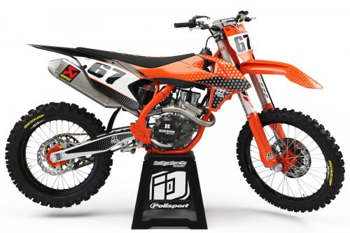KTM - D5 - 1 - Custom Bike Decals, Graphics, UK, Indigo Decals