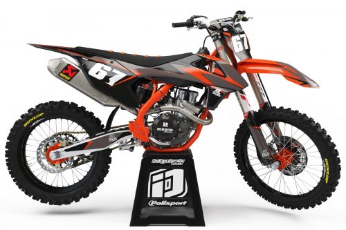 KTM - D6 - 1 - Custom Bike Decals, Graphics, UK, Indigo Decals
