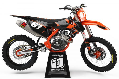 KTM RMZ - D8 - 1 - Custom Bike Decals, Graphics, UK, Indigo Decals