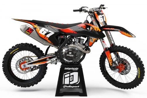 KTM D9 - 2 - Custom Bike Decals, Graphics, UK, Indigo Decals