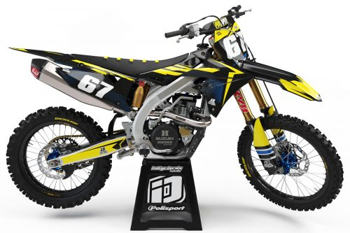 Suzuki RMZ - D10 - 1 - Custom Bike Decals, Graphics, UK, Indigo Decals