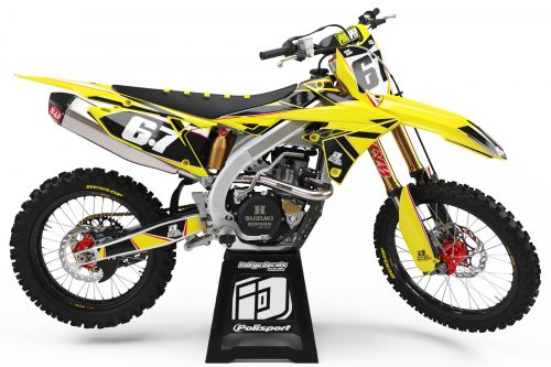 Suzuki RMZ - D1 - 2 - Custom Bike Decals, Graphics, UK, Indigo Decals