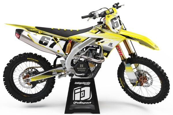 Suzuki RMZ - D2 - 1 - Custom Bike Decals, Graphics, UK, Indigo Decals