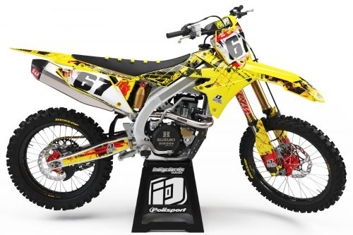 Suzuki RMZ - D3 - 2 - Custom Bike Decals, Graphics, UK, Indigo Decals