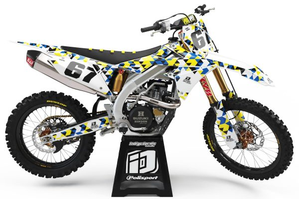 Suzuki RMZ - D4 - 1 - Custom Bike Decals, Graphics, UK, Indigo Decals