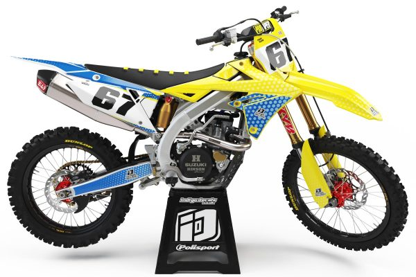 Suzuki RMZ - D5 - 2 - Custom Bike Decals, Graphics, UK, Indigo Decals