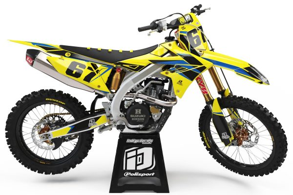 Suzuki RMZ - D6 - 1 - Custom Bike Decals, Graphics, UK, Indigo Decals
