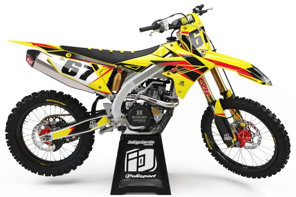 Suzuki RMZ - D6 - 2 - Custom Bike Decals, Graphics, UK, Indigo Decals