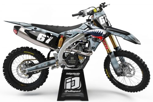 Suzuki RMZ - D7 - Custom Bike Decals, Graphics, UK, Indigo Decals