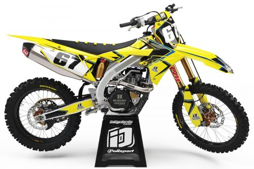 Suzuki RMZ - D8 - 1 - Custom Bike Decals, Graphics, UK, Indigo Decals