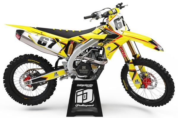 Suzuki RMZ - D8 - 2 - Custom Bike Decals, Graphics, UK, Indigo Decals