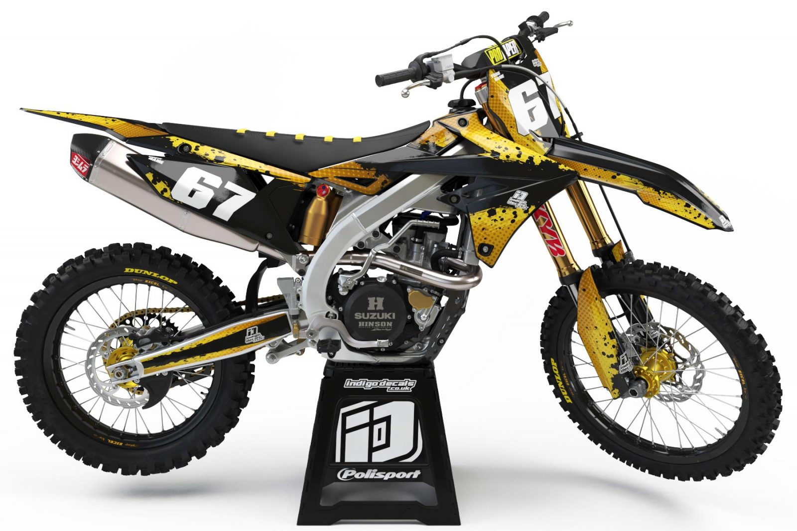 Suzuki RMZ D9 - 1 - Custom Bike Decals, Graphics, UK, Indigo Decals