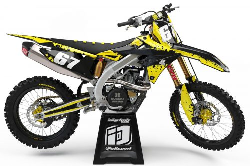 Suzuki RMZ D9 - 2 - Custom Bike Decals, Graphics, UK, Indigo Decals